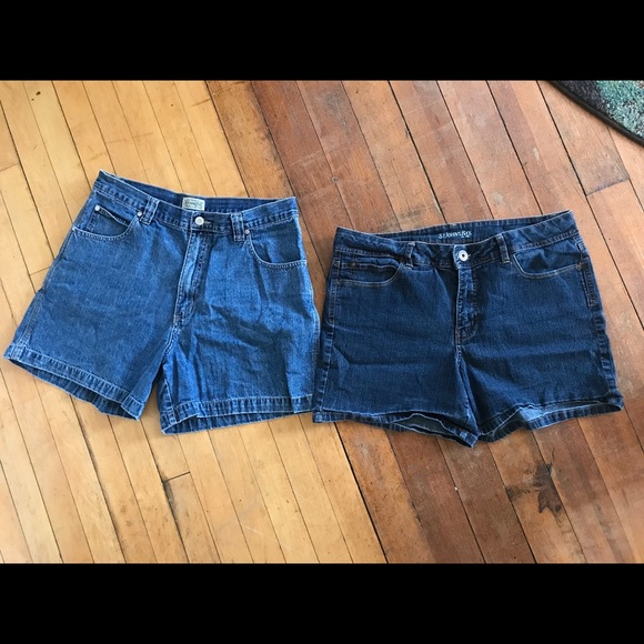 St. John's Bay Pants - 2 pair St Johns Bay Denim Shorts Size 14